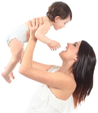 bebé e mãe