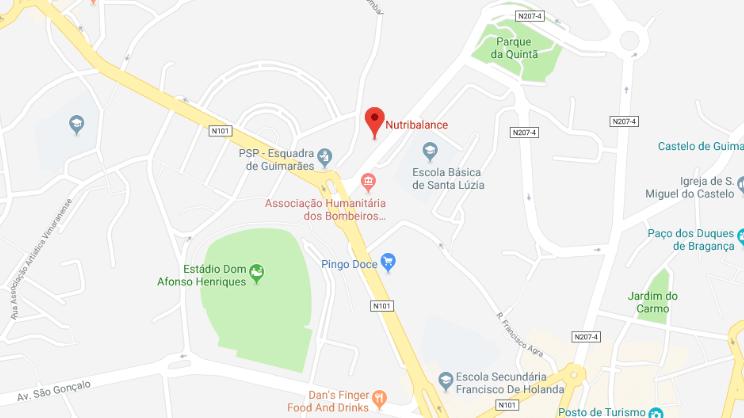 mapa clínica Braga